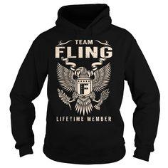 cool  Team FLING Lifetime Member - Last Name  Surname T-Shirt -  Shirts of year