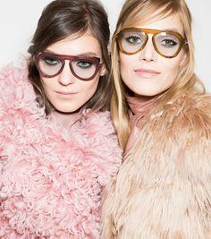 Gucci at Milan Fashion Week Fall 2014 - Backstage Runway Photos Fashion Moda, Look Fashion, Fashion Beauty, Fashion Show, Fashion Design, Fashion Tips, Gucci Fashion, French Fashion, Sweater Weather
