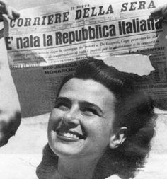 Birth of the Italian Republic, 18 June 1946