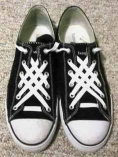 Cool way to lace your Converse.