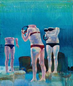 Leonardo Cremonini (Italian, 1925-2010), Eyes without voice, 1971-72. Oil on canvas, 73 x 60 cm