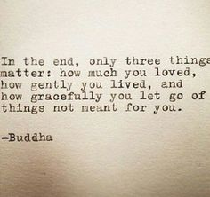 let go of things not meant for you...