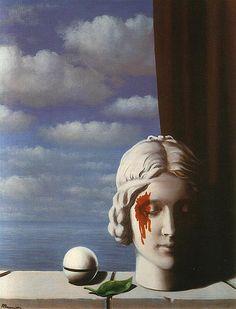 Magritte, La Memoire, René François Ghislain Magritte was a Belgian surrealist artist. Rene Magritte, Magritte Paintings, Art For Art Sake, Surreal Art, Monet, Oeuvre D'art, Les Oeuvres, Art History, Impressionism