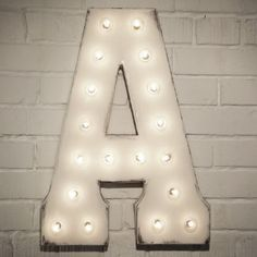 Custom 21 White Letter A Vintage Marquee Sign