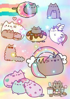 Most recent pusheen images. Chat Pusheen, Pusheen Love, Pusheen Unicorn, Chat Kawaii, Kawaii Cat, Kawaii Wallpaper, Cat Wallpaper, Pusheen Stormy, Nyan Cat