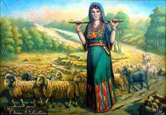 لوحة الرعي للفنان فتحي غبن ... Artist Fathi Ghaben