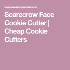 Scarecrow Face Cookie Cutter   Cheap Cookie Cutters