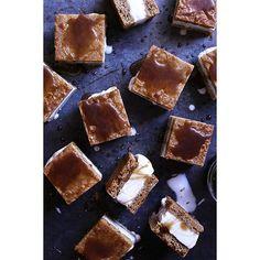Vanilla Bean Ice Cream Sandwiches With Coconut Caramel Sauce via @feedfeed on https://thefeedfeed.com/tutti_dolci/vanilla-bean-ice-cream-sandwiches-with-coconut-caramel-sauce