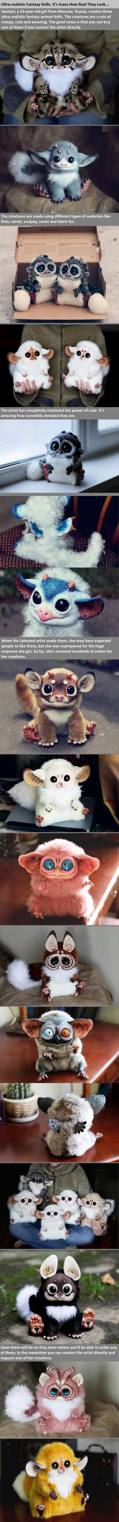 23 year old Santani from Moscow creates these ultra realistic fantasy animal dolls