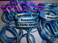 On the 5th day of Agiotfest my true love gave to me some charity wristbands to sell for 1 euro each