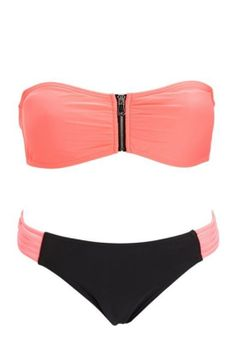 Coral Bikini   Charlotte Russe Swimwear
