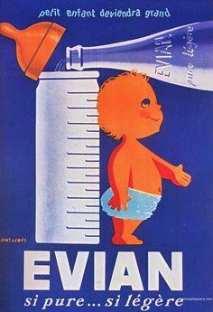 Vintage EVIAN ad