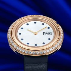 Introducing the new Piaget Possession Bucherer BLUE. A masterpiece of pink gold, diamonds and sapphires exclusively made for Bucherer. Pink And Gold, Omega Watch, Rolex Watches, Sapphire, Diamonds, Passion, Luxury, Blue, Stuff To Buy