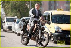 Daniel Craig: 'Skyfall' Motorcycle Pic!
