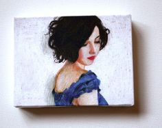 Rimma / tiny canvas  print by tushtush on Etsy, $20.00