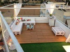 pallet lounge op het dak