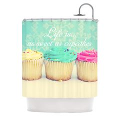 cupcake shower curtain - Google Search
