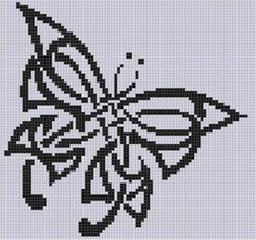 Celtic Butterfly Cross Stitch Pattern -- I may never use this, but I like it....