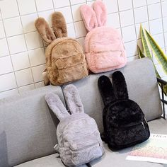 Plush Bunny Ear Zipper Backpack $25.99 USD Exclusive Coupon For Christmas…