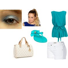 Summery Teal Outfit, created by ymaldonado88 on Polyvore