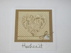 """Hochzeit """"Schmetterling Herz"""" von Paper - Creativ auf DaWanda.com"""