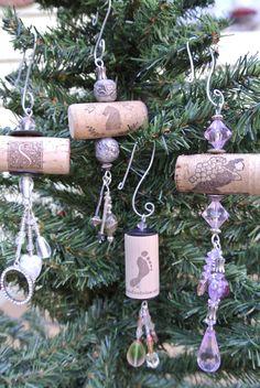 Cork Ornaments by sarahracha on Etsy, $5.00