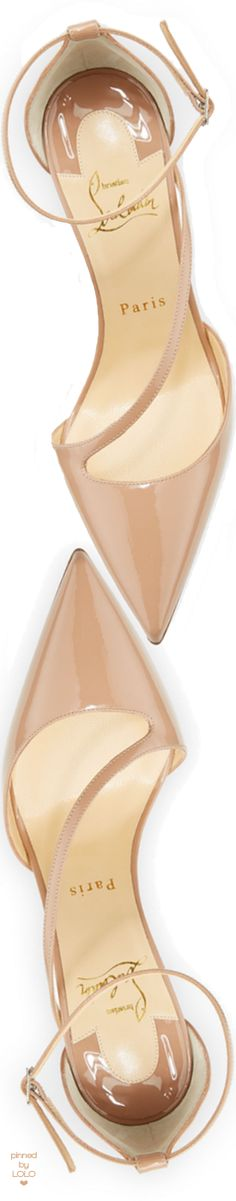 Christian Louboutin Fliketta Patent 100mm Red Sole Ankle-Wrap Pump
