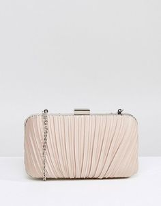 #ASOS - #Chi Chi London Chi Chi London Ruched Clutch Bag in Satin - Beige - AdoreWe.com