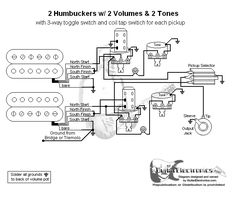 5d945562fc919a369b6a2677eddb02e0 guitar tips guitar lessons wiring diagram for 2 humbuckers 2 tone 2 volume 3 way switch i e 3-Way Switch Wiring Diagram Variations at pacquiaovsvargaslive.co