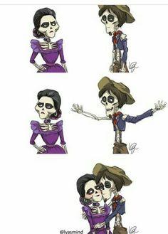 Mamá Imelda y Hector de coco Pixar