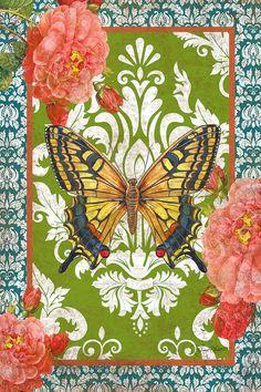 Boho Rose-b Painting  - Boho Rose-b Fine Art Print