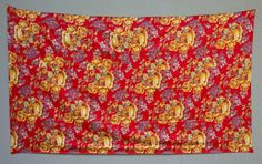 46 x 81 Old Russian Trade Cloth Old Roller Print On Cotton Table Cover Vintage Hanging Cotton FAST SHIPMENT with ups - russian-print-003