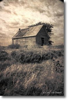 Old abandoned schoolhouse, Alfalfa County