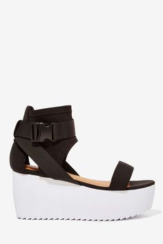 Nasty Gal Modern Love Neoprene Flatform | Shop Shoes at Nasty Gal
