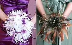 alternative to flowers for bridesmaids | 18 Alternatives to Bridesmaids Carrying Floral Bouquets