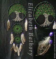 Ловцы снов - чёрный,зеленый,дерево жизни,ловец снов,ловец сноведений,ловушка снов