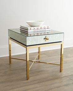 Mirrored Side Table //