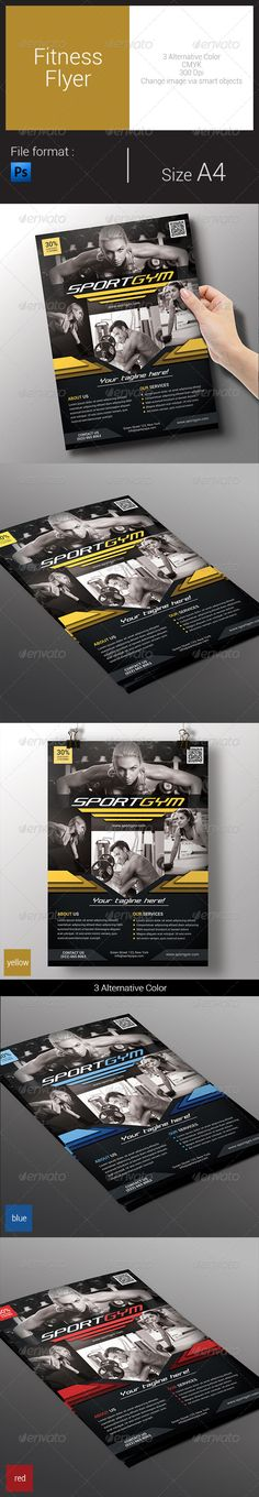 Fitness Flyer Template PSD | Buy and Download: http://graphicriver.net/item/fitness-flyer/8558472?WT.ac=category_thumb&WT.z_author=arifpoernomo&ref=ksioks