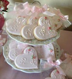 Pink 90th Birthday Heart Cookiesjpeg More 80 Cake Celebration