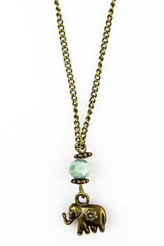 Collar Elefante Flor, Collar, complementos, necklace, collier, compliments…