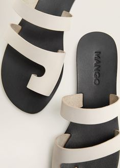 Discover the latest trends in Mango fashion, footwear and accessories. Mens Shoes Boots, Shoe Boots, Shoes Sandals, Leather Slippers, Leather Sandals, Ballerinas, Fresh Shoes, Fashion Sandals, Cheap Shoes