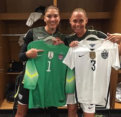 Hope Solo and Christie Rampone. (Instagram)