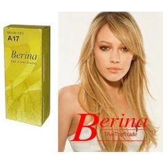 Berina Permanent Hair Dye Color Cream # A17 Blonde Color Made in Thailand By Sellgreat1449.