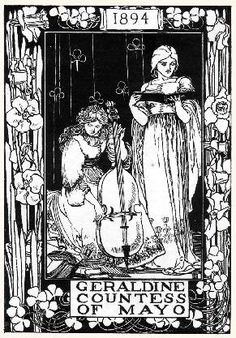 Geraldine Countess of Mayo 1894 Looks like Aubrey Beardsley!