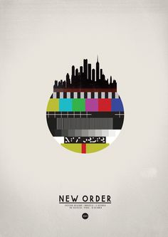 #Music #poster New order #graphic #design #illustration