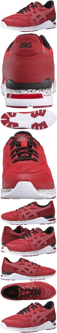 Asics Men's GEL-Lyte Evo NT Retro Tango Red/White Running Shoe - 7 M US