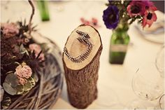 This would be cuter if it were a little bigger. Rustic, nail, wood, table number wedding, image by Anna Clarke Photography