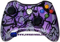 Pearl Purple Predator Camouflage Xbox 360 Controller - KwikBoy Modz  #xbox360 #customcontroller #moddedcontroller #customxbox360controller #predatorcamo #gaming #gamer #kwikboymodz