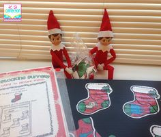 This was my second year to use an Elf on the Shelf in the classroom. It is great to help tame the kiddos who are getting so anxious for Chri...