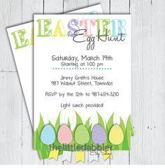 Printable Easter Egg Hunt Invitation